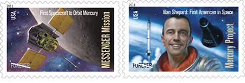 2011 US Space Stamps