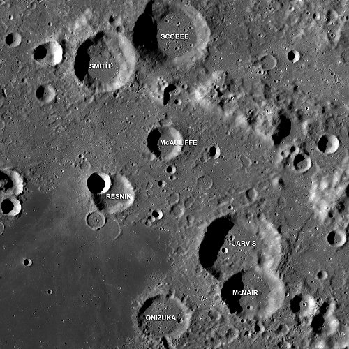 Craters on Moon named after Challenger astronaut s